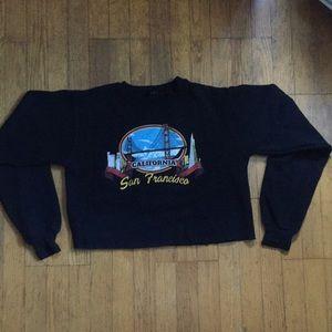 brandy melville cropped graphic sweatshirt